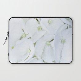 White hortensia flowers Laptop Sleeve