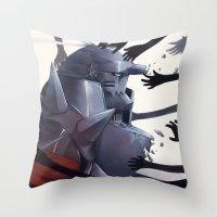 fullmetal Throw Pillows featuring FMA Ed & Al by x3uu