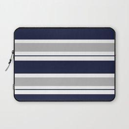 Navy Blue and Grey Stripe Laptop Sleeve