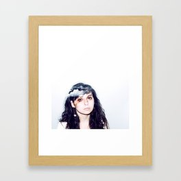 head in the clouds.  Framed Art Print