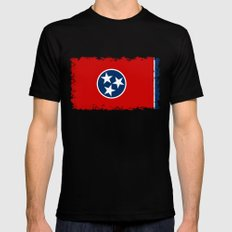 State flag of Tennessee, HQ image MEDIUM Black Mens Fitted Tee