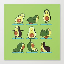 Avocado Yoga Canvas Print