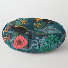 Tropical garden 2 Floor Pillow