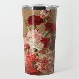 Henri Fantin Latour - Carnations Without Vase Travel Mug