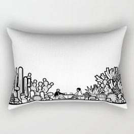 Chai and Cacti II Rectangular Pillow