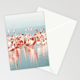 Pink Flamingo, Tropical Art Print By Synplus Stationery Cards
