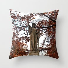 My Lady Among the Leaves Throw Pillow