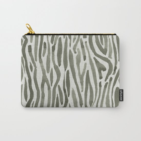 Simply Bonsai Lines in Green Tea and Lunar Gray Carry-All Pouch