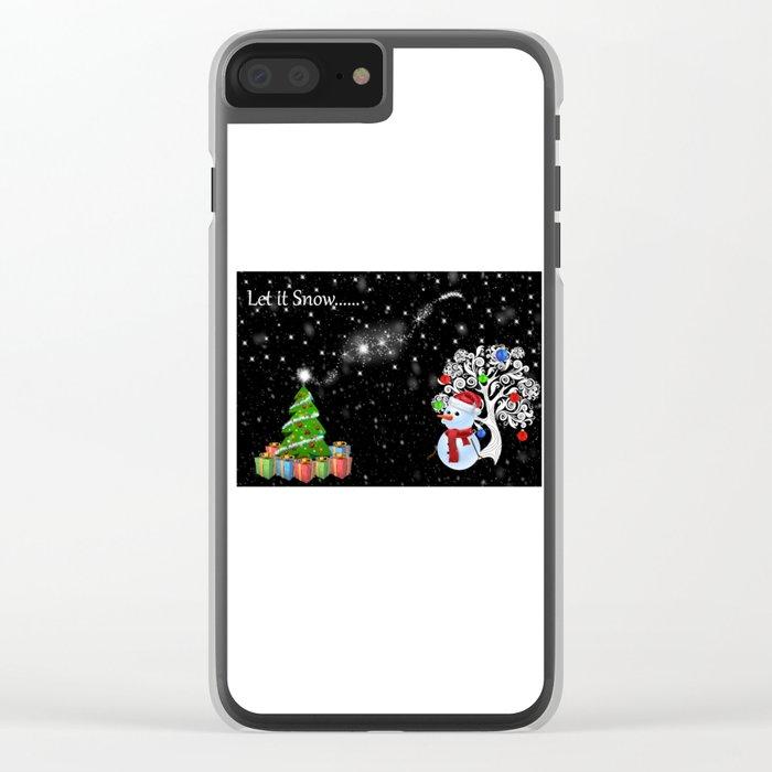 Let it Snow..... Clear iPhone Case