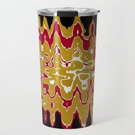 Black Gold Abstract Travel Mug
