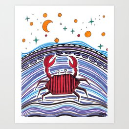 Crabby Crab Art Print