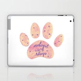 Adopt don't shop galaxy paw - pastel pink and ultraviolet Laptop & iPad Skin