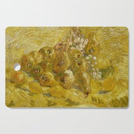 Quinces, Lemons, Pears and Grapes by Vincent van Gogh Cutting Board