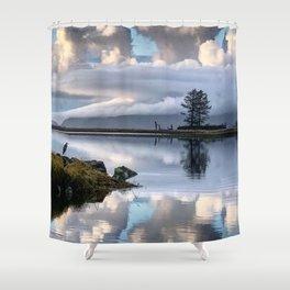 Blue Heron on Tillamook Bay Shower Curtain