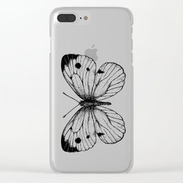 Cabbage butterfly Clear iPhone Case