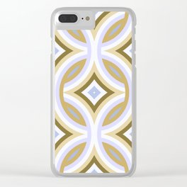 Funky Retro Abstract Mod Fantasy Pattern Clear iPhone Case
