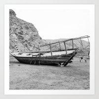 Ruins of a boat Art Print