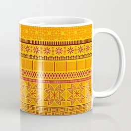 african ethnic yellow and red pattern Coffee Mug