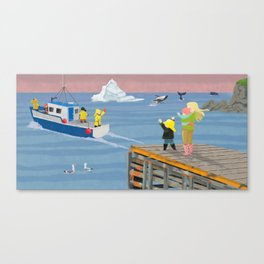 Fishing in Newfoundland Canvas Print