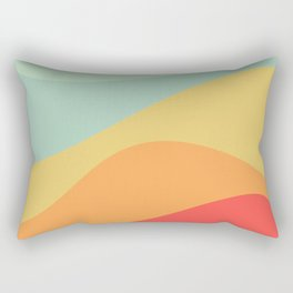 Abstract Color Waves - Bright Rainbow Rectangular Pillow