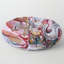 Musical Goddess Saraswati - Healing Art Floor Pillow