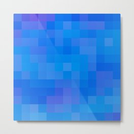 Re-Created Colored Squares No. 60 by Robert S. Lee Metal Print