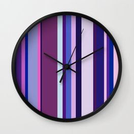Stripes in colour 8 Wall Clock