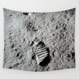 Apollo 11 - First Footprint On The Moon Wall Tapestry