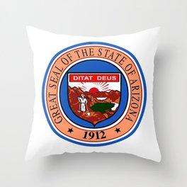 State Seal of Arizona Throw Pillow
