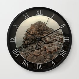 Sunny morning in Giant's Causeway Wall Clock