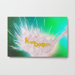 The explotion - neon and fur Metal Print