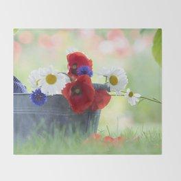 Poppies Symphonies Throw Blanket