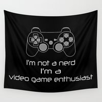 video game Wall Tapestries featuring Video Game Enthusiast  by bitobots