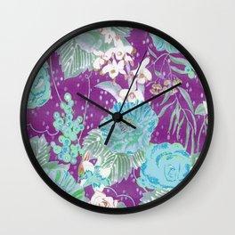 boho plum 2018 Wall Clock