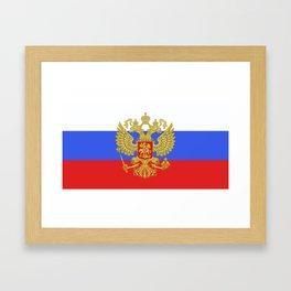 russian flag Framed Art Print
