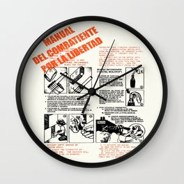 The Freedom Fighters Manual (for light T's) Wall Clock