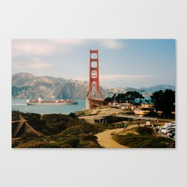 Golden Gate Bridge shot on film Canvas Print