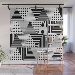 Triangles Patchwork #1 Wall Mural