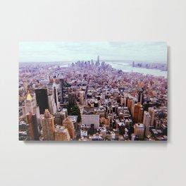 New York City // Retro 16 Metal Print