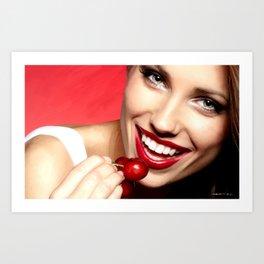 Cherry Girl Art Print