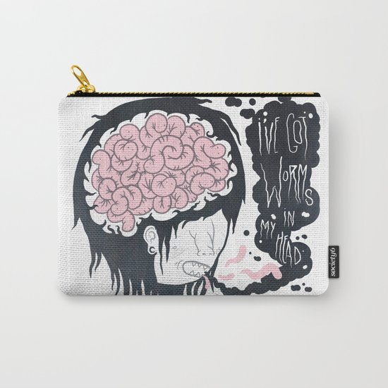 ive got worms in my head Carry-All Pouch