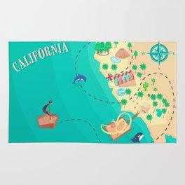 California Treasure Map Rug