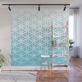 Sacred Geometry Blue Wall Mural