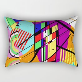 Crazy Retro 2 - Abstract, geometric, random collage Rectangular Pillow