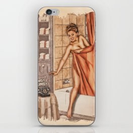 Pinup - Shower Call iPhone Skin