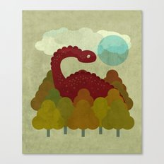 RED DINO Canvas Print