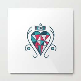 King of Hearts Metal Print