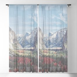 Tunnel View Yosemite Valley Sheer Curtain