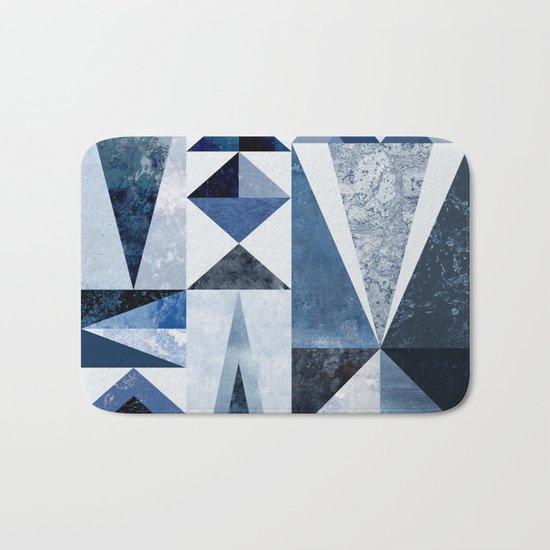 Blue Shapes Bath Mat