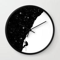 climbing Wall Clocks featuring night climbing by Balazs Solti